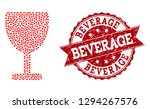 collage wine cup composed with... | Shutterstock .eps vector #1294267576