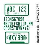 license plate font 3d vector... | Shutterstock .eps vector #1294278079