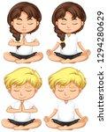 set of young children...   Shutterstock .eps vector #1294280629