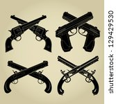 crossed pistols evolution... | Shutterstock .eps vector #129429530