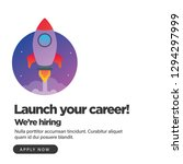 launch your career we are... | Shutterstock .eps vector #1294297999