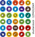 white solid icon set  scraper... | Shutterstock .eps vector #1294312069