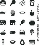solid black vector icon set  ... | Shutterstock .eps vector #1294314460