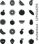 solid black vector icon set  ... | Shutterstock .eps vector #1294316293