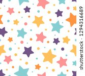 colorful stars vector seamless... | Shutterstock .eps vector #1294316689