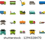 color flat icon set   trolley...   Shutterstock .eps vector #1294328470