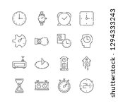 vector line icon set. time...