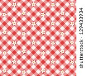 Red And White Floral Gingham...