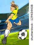 soccer | Shutterstock . vector #129434438