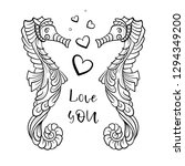 black and white vector doodle... | Shutterstock .eps vector #1294349200
