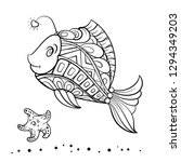 vector doodle cute fish and a... | Shutterstock .eps vector #1294349203