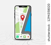 map  map point  smartphone with ...   Shutterstock .eps vector #1294358020