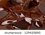 melted chocolate background  ...   Shutterstock . vector #129435890