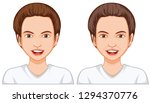 young and old woman face... | Shutterstock .eps vector #1294370776