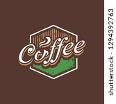 coffee sticker concept line...