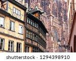 france. alsace. strasbourg. old ...   Shutterstock . vector #1294398910