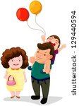 illustration of isolated happy... | Shutterstock .eps vector #129440594