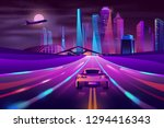modern city highway neon... | Shutterstock .eps vector #1294416343
