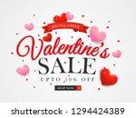 happy valentine's day sale... | Shutterstock .eps vector #1294424389