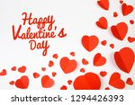 valentine day background with... | Shutterstock . vector #1294426393