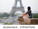 beautiful girl in paris | Shutterstock . vector #1294437646