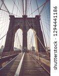 brooklyn bridge at sunrise ... | Shutterstock . vector #1294441186