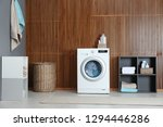 washing of different towels in... | Shutterstock . vector #1294446286