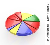 a colorful 3d pie chart graph...   Shutterstock . vector #1294448059