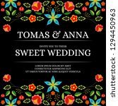 traditional wedding invite card ... | Shutterstock .eps vector #1294450963