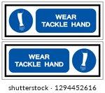 wear tackle hand symbol sign... | Shutterstock .eps vector #1294452616
