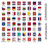 set of all flags europe... | Shutterstock .eps vector #1294454410