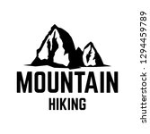 mountain hiking. emblem... | Shutterstock .eps vector #1294459789