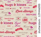 jpeg seamless love background.... | Shutterstock . vector #129446000