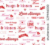 jpeg seamless love background.... | Shutterstock . vector #129446030