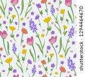 flower pattern. endless... | Shutterstock .eps vector #1294464670