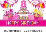 happy birthday card.... | Shutterstock .eps vector #1294483066