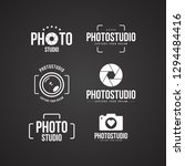 set of photography logo and... | Shutterstock .eps vector #1294484416
