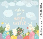 Cute Easter Bunnies And Easter...