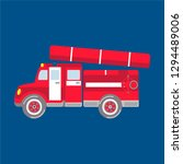 puzzle fire truck the vector... | Shutterstock .eps vector #1294489006