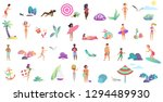 beach vacation summer tiny... | Shutterstock .eps vector #1294489930