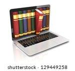 digital library   books inside... | Shutterstock . vector #129449258