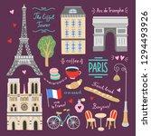 paris cute vector graphics.... | Shutterstock .eps vector #1294493926