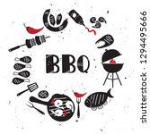 set of grill   barbecue... | Shutterstock .eps vector #1294495666
