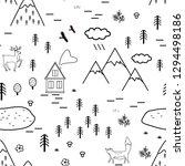 hand drawn scandinavian...   Shutterstock .eps vector #1294498186
