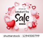 valentines day sale vector... | Shutterstock .eps vector #1294500799