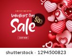 valentines day sale vector... | Shutterstock .eps vector #1294500823