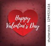 happy valentine's day banner ... | Shutterstock .eps vector #1294521616