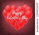 valentine's day  banner ... | Shutterstock .eps vector #1294521619