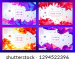 vector set of abstract... | Shutterstock .eps vector #1294522396