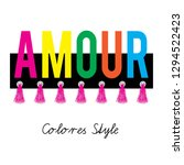 amour color style for t shirt... | Shutterstock .eps vector #1294522423